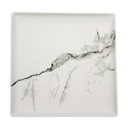 Marble Square Plate 25cm