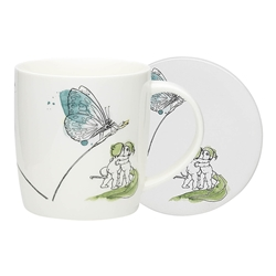 Ecology May Gibbs Butterfly Mug & Coaster 320ml