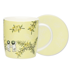 Ecology May Gibbs Wattle Mug & Coaster 320ml