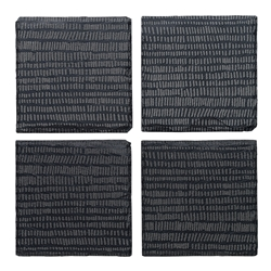 Ecology Dash Slate Square Coasters Set of 4