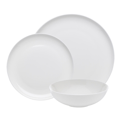 Ecology Canvas White Dinner Set 12piece Bone China