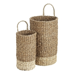 Lennox Long Baskets with Handles Set of 2