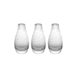 Ecology Halo Droplet Icicle Vases Set of 3 5.5cm x 9.5cm