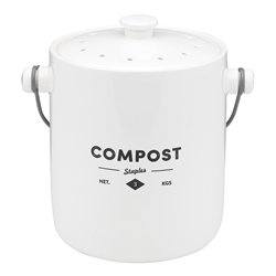 Ecology Staples Foundry Compost Bin with Handle 23 x 18 x 23cm Gift boxed