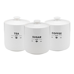 Ecology Staples Foundry Set of 3 Canisters 12 x 15cm Gift boxed