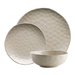 Ecology Speckle 12 piece Dinnerset Oatmeal