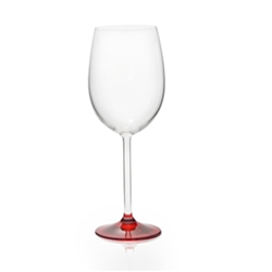 Rona Christmas Wine Glass with Red Base 350ml Set of 8