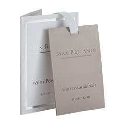 Max Benjamin Scented Card White Pomegranate