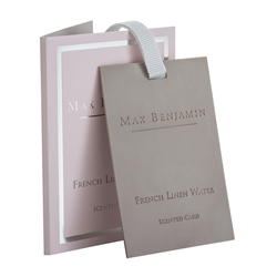 Max Benjamin Scented Card French Linen Water