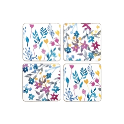 Wild Flower Coasters Set 4