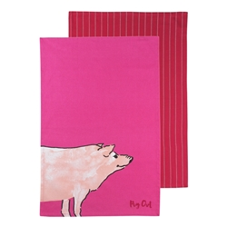 FUNNY FARM PIG OUT TEATOWELS