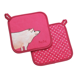 Funny Farm Pig Out Pot Holders