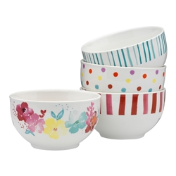 Summer Bloom Rice Bowls Set 4