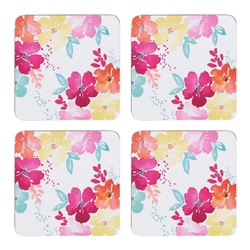 Summer Bloom Coasters S/4