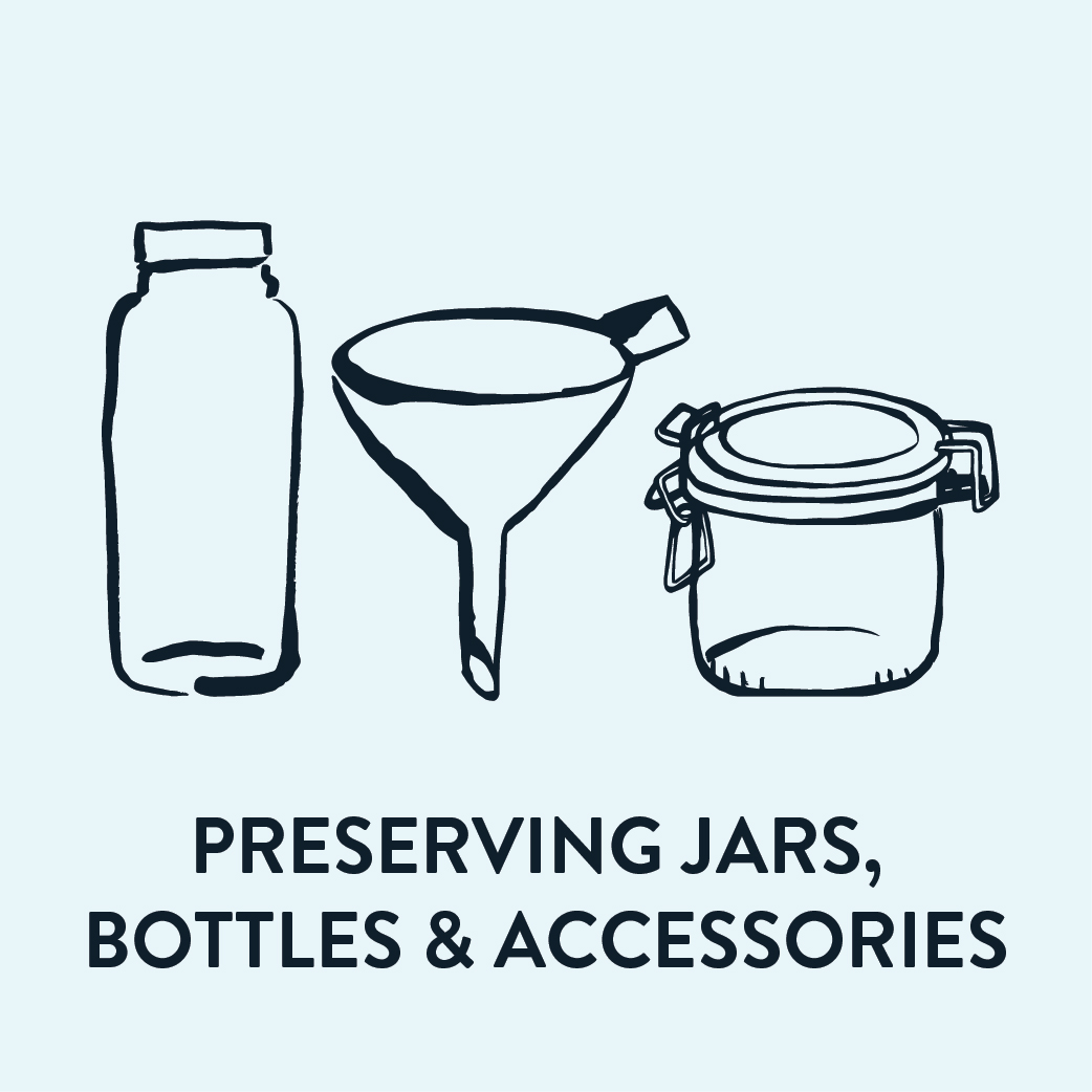 Preserving Jars, Bottles & Acc