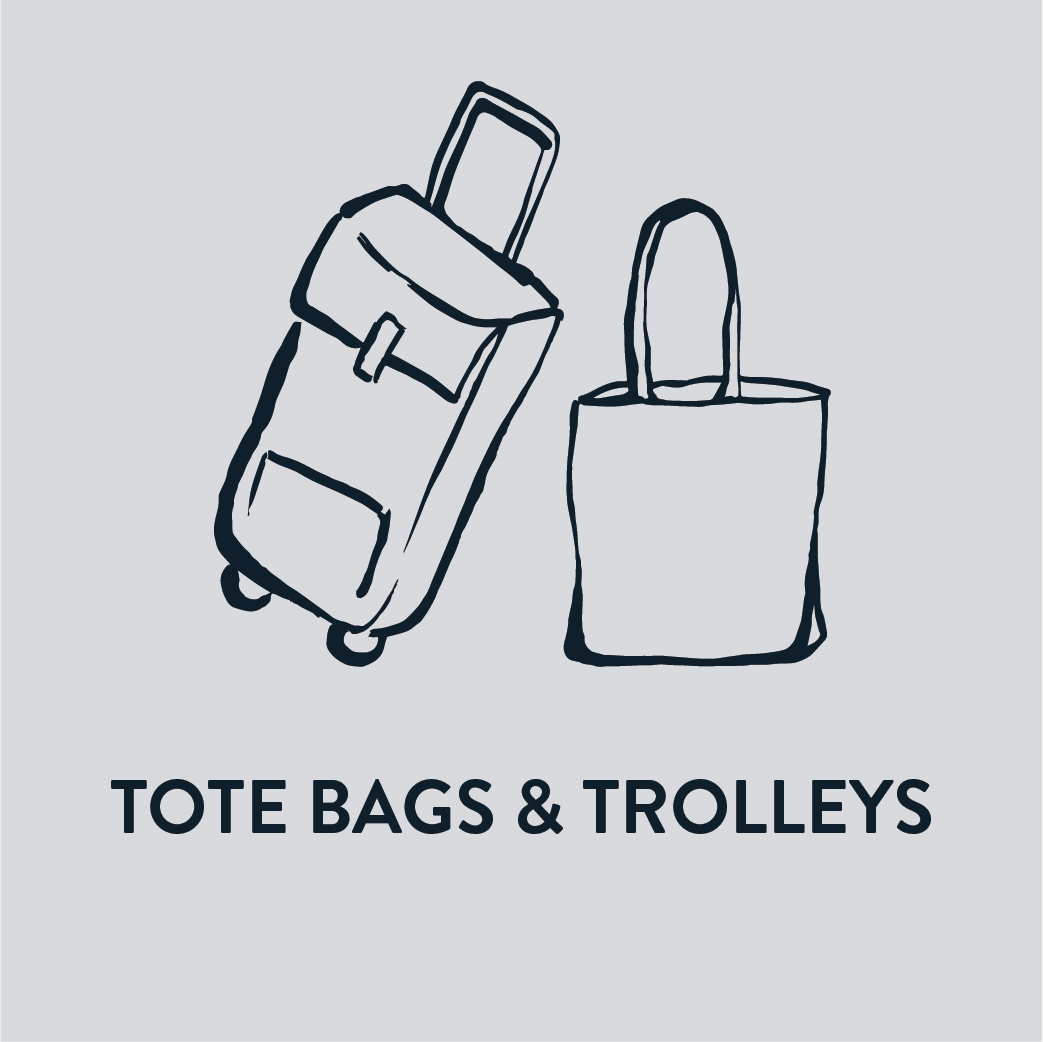 Tote Bags & Shopping Trolleys